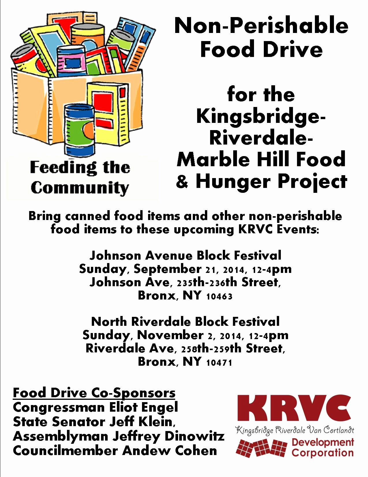 Can Food Drive Flyer Fresh Krvc Announces Non Perishable Food Drive