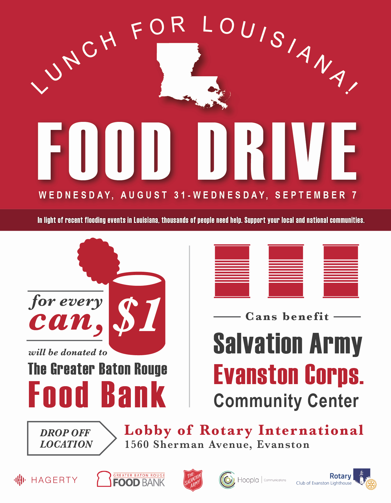 Can Food Drive Flyer Fresh Louisiana Food Drive Flyer Hagerty Consulting