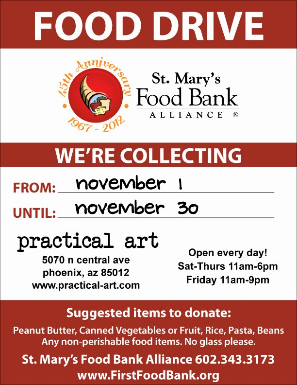Can Food Drive Flyer Fresh No Tax November A Food Drive for St Mary's Food Bank