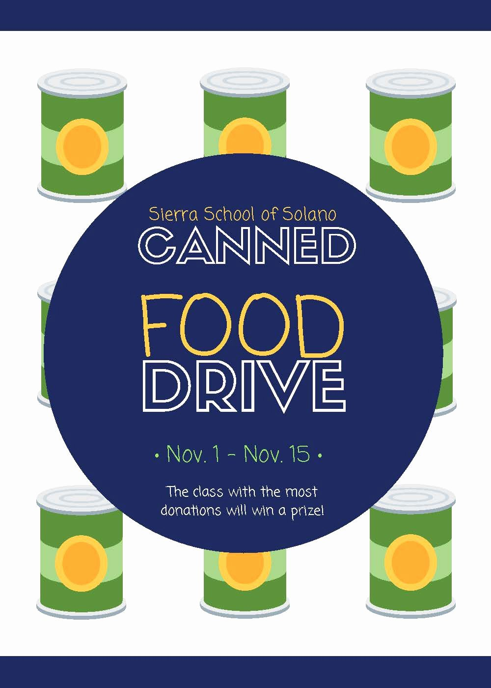 Can Food Drive Flyer Inspirational solano Canned Food Drive Flyer Catapult Learning