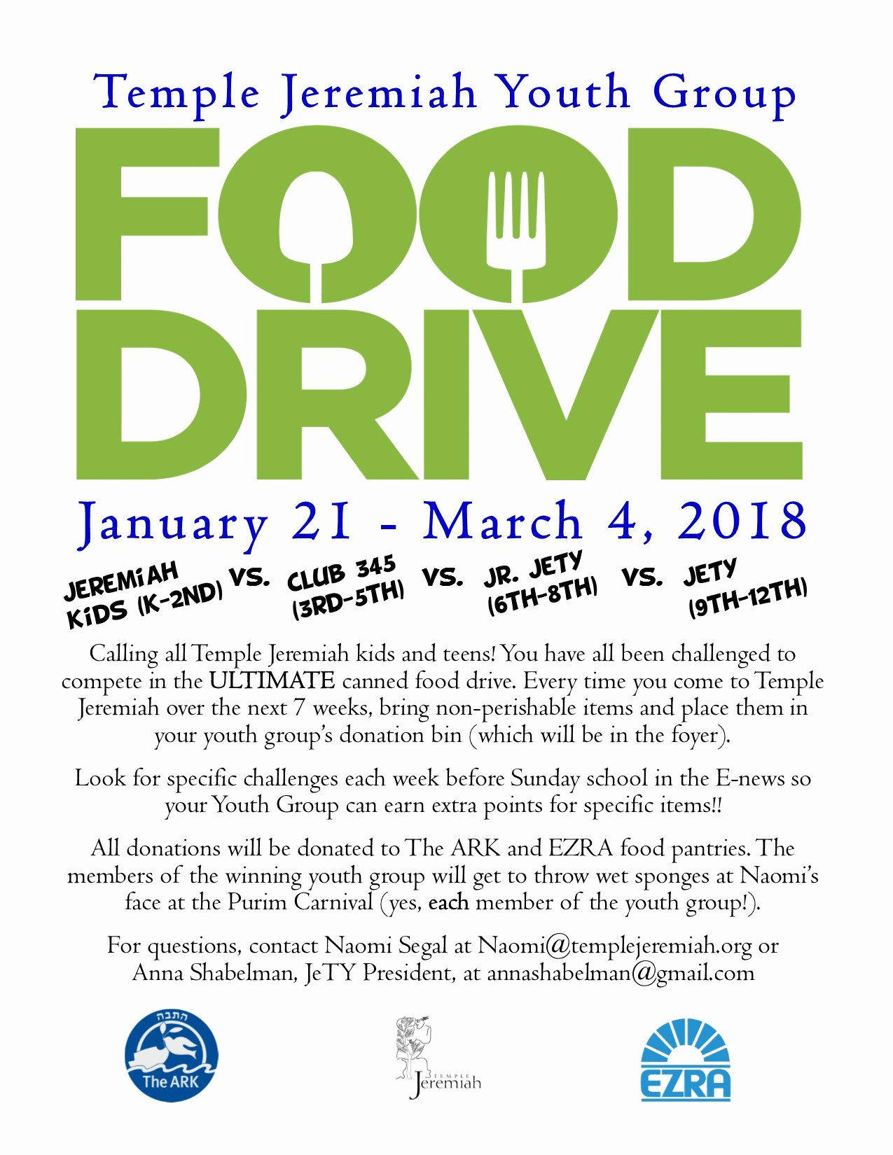 Can Food Drive Flyer Inspirational Up Ing events Temple Jeremiah
