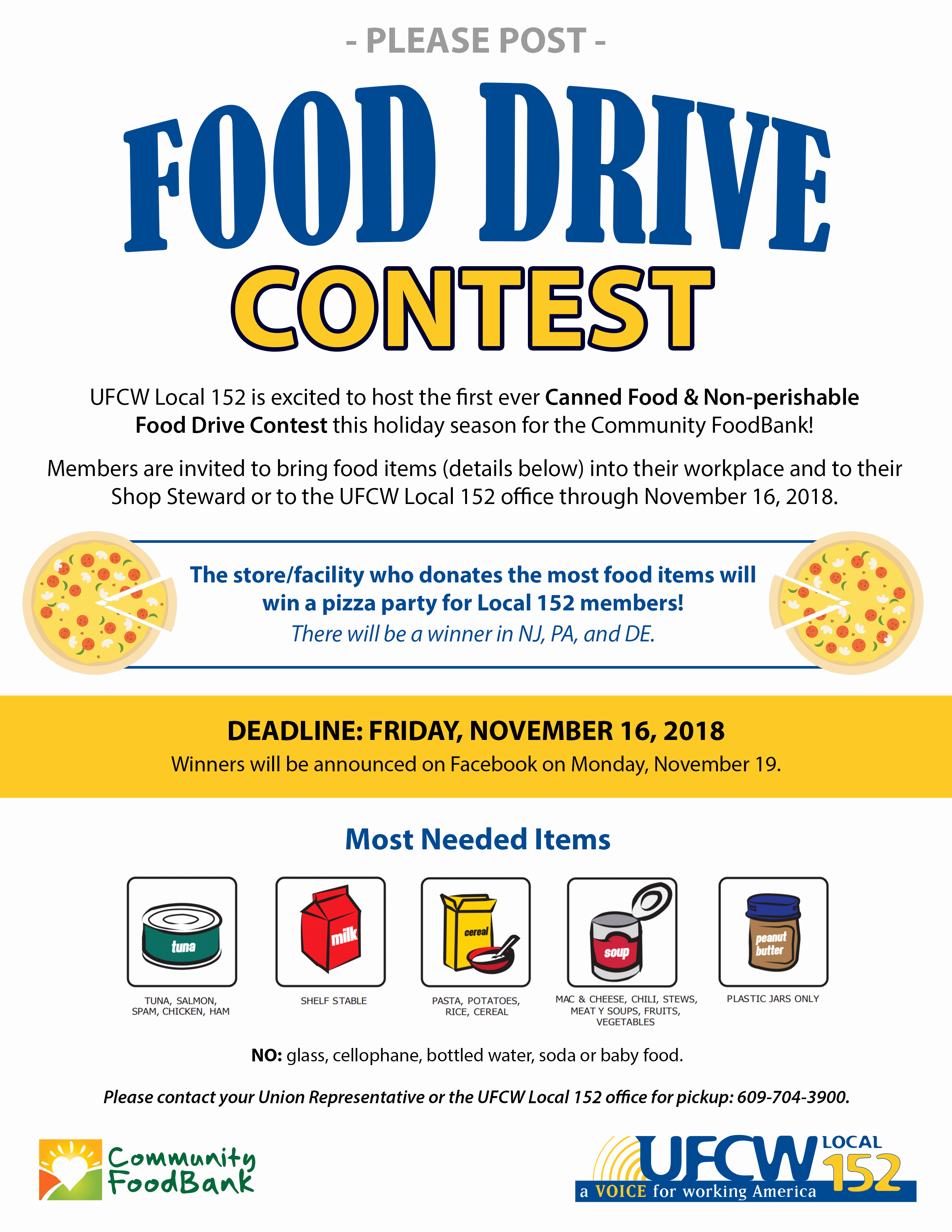 Can Food Drive Flyer Luxury Canned Food & Non Perishable Food Drive Contest Ufcw