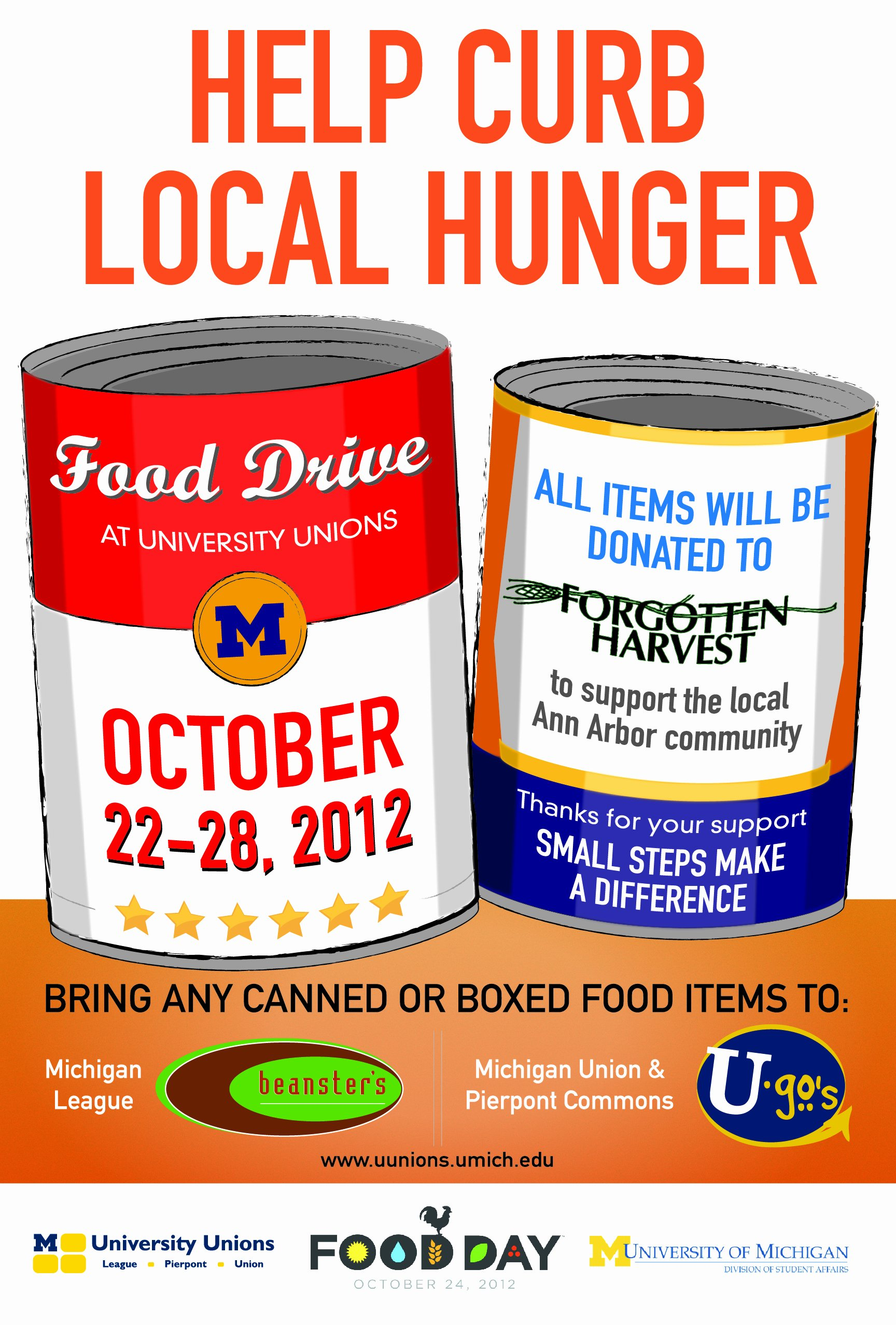 Can Food Drive Flyer New Celebrate Food Day Oct 22 26