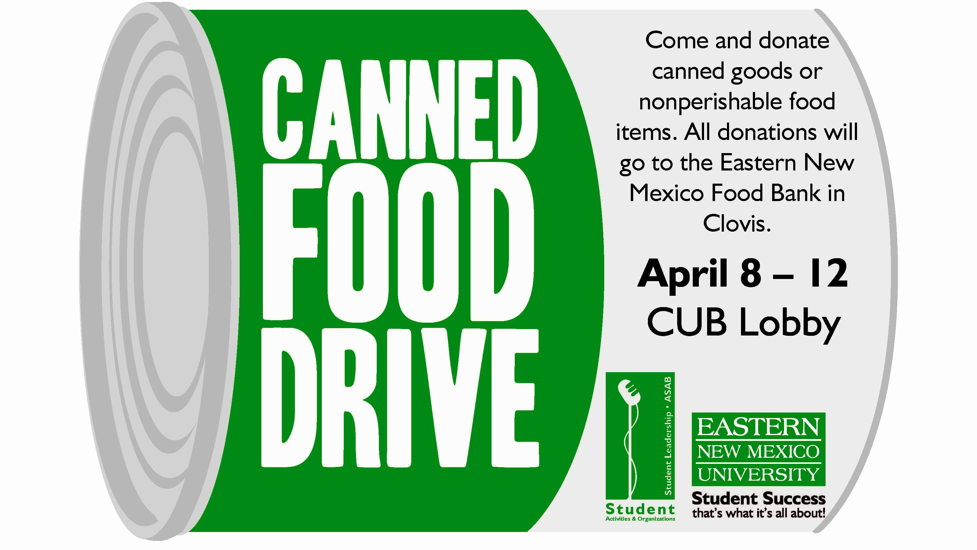 Can Food Drive Flyer Unique Enmu's Canned Food Drive – Food Bank Of Eastern New Mexico