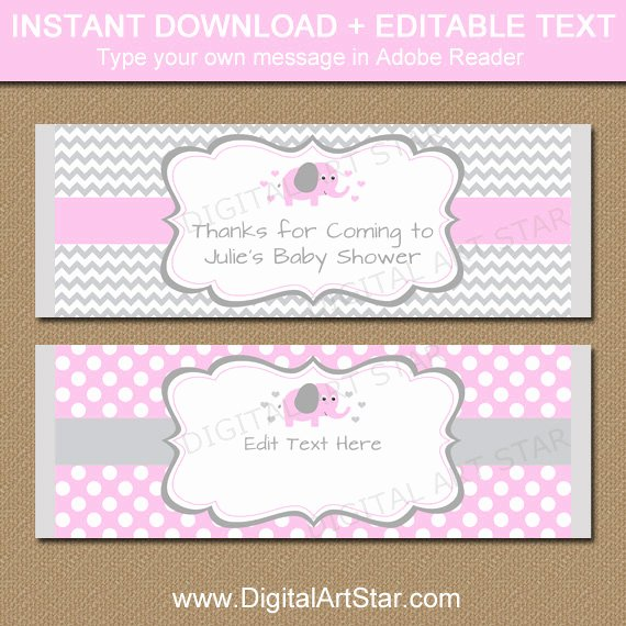 Candy Bar Wrapper Template Awesome Editable Chocolate Bar Wrapper Template Printable Pink
