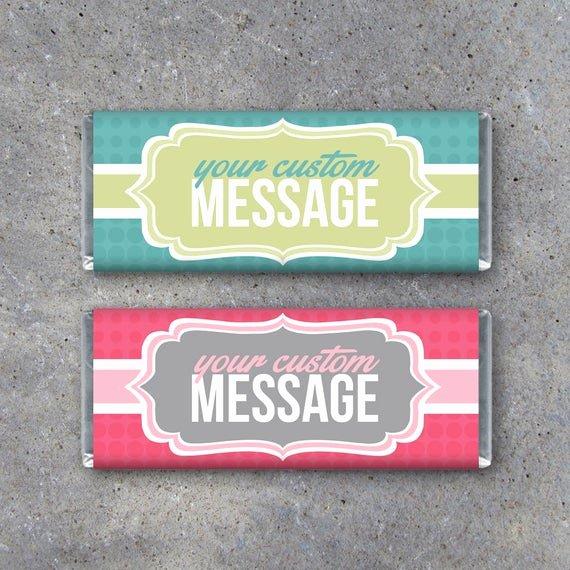 Candy Bar Wrapper Template Elegant Personalized Candy Bar Wrappers Printable Wrappers Featuring