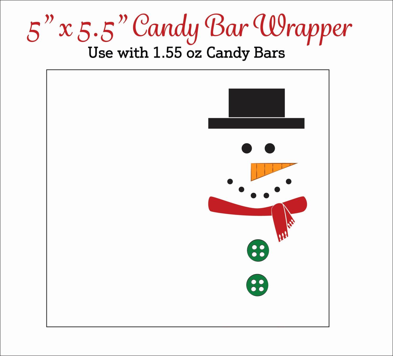Candy Bar Wrapper Template Elegant Snowman Candy Bar Wrappers Printable Snowmen Candy Wrappers