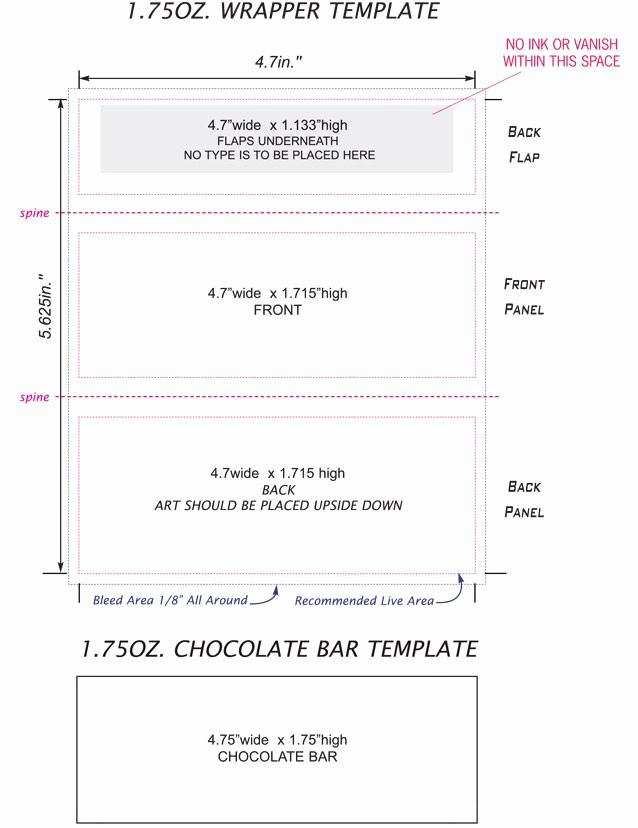 Candy Bar Wrapper Template Inspirational Candy Bar Wrappers Template Google Search