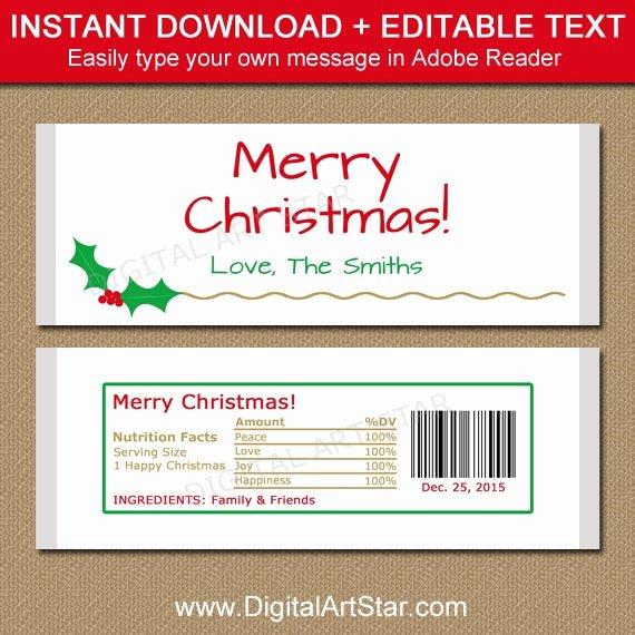 Candy Bar Wrapper Template Inspirational Christmas Candy Bar Wrapper Template Printable Holiday