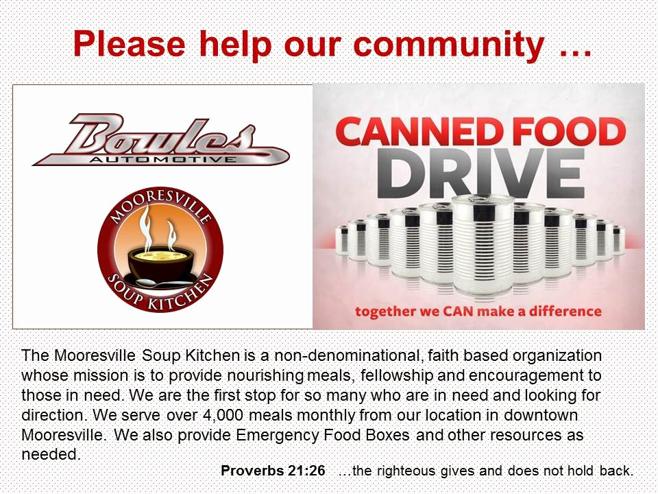 Canned Food Drive Flyer Awesome Bowles Automotive Repair