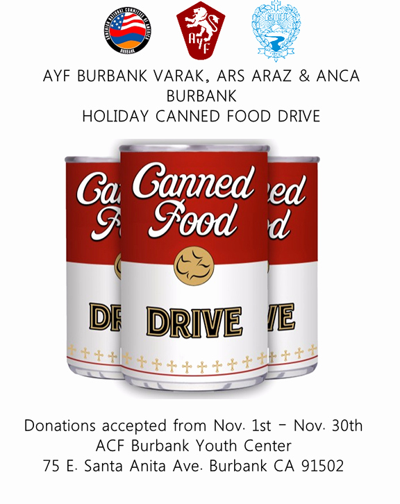 Canned Food Drive Flyer Beautiful Ayf Burbank Launches Canned Food Drive