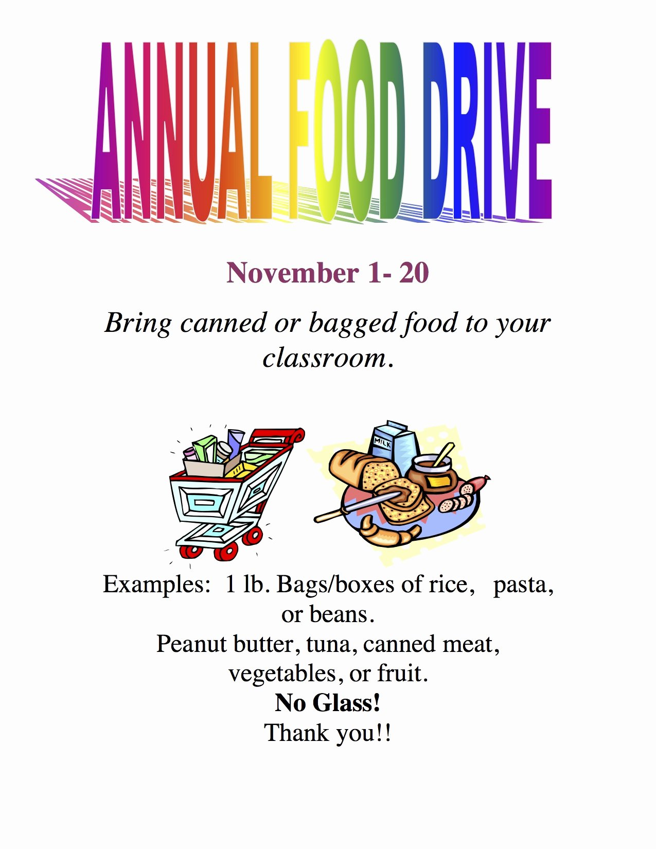 canned food drive at salt creek