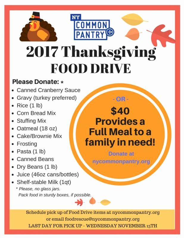 Canned Food Drive Flyer Best Of Canned Food Drive Flyer