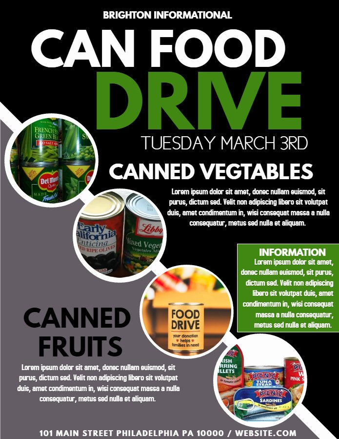 Canned Food Drive Flyer Best Of top 10 Templates From the Design Munity Vol 8