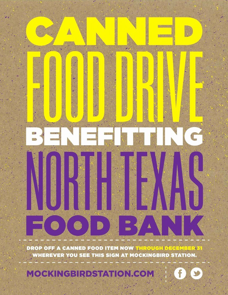 Canned Food Drive Flyer Elegant Canned Food Drive at Mockingbird Station