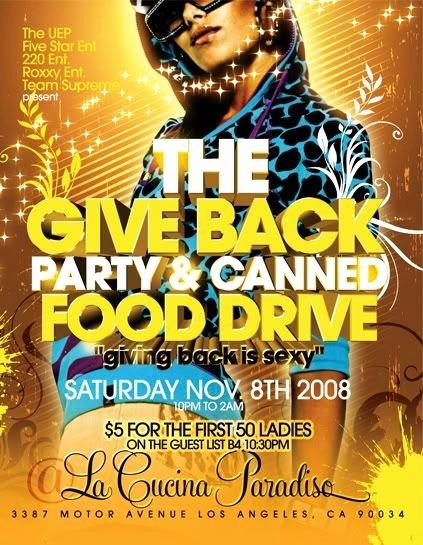 Canned Food Drive Flyer Fresh Flier Shrine Give Back Party & Canned Food Drive Flyer