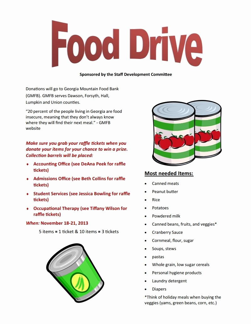 Canned Food Drive Flyer Fresh Food Drive Nov 18 21 Brenau Update