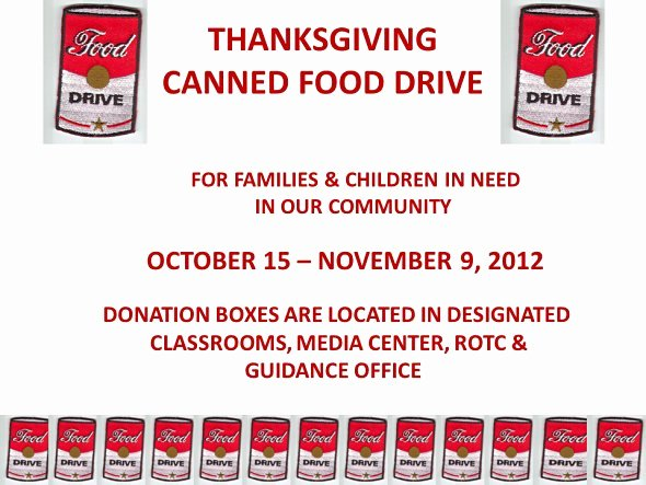 Canned Food Drive Flyer Fresh Hca Canned Food Drive