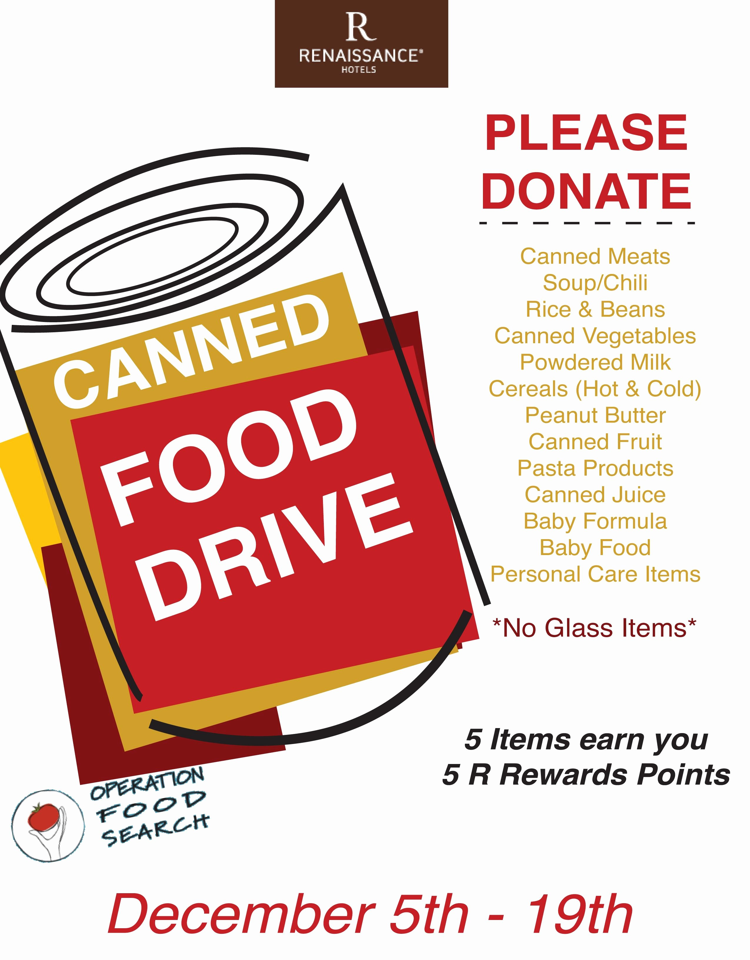 Canned Food Drive Flyer Fresh Mcr Designz Was Able to Collaborate with the Renaissance