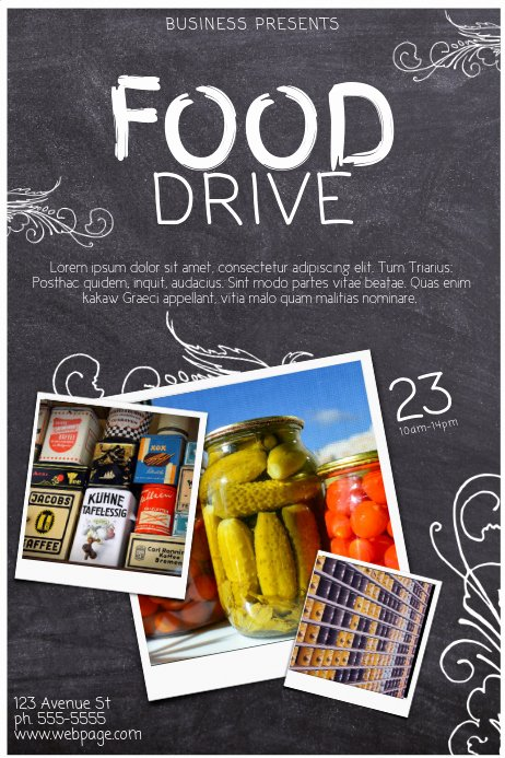 Canned Food Drive Flyer Lovely Food Drive Template