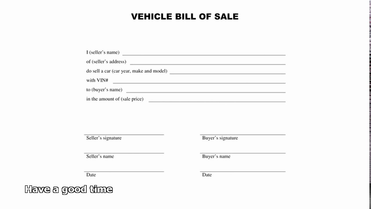 Car Bill Of Sale form Luxury Bill Of Sale Car