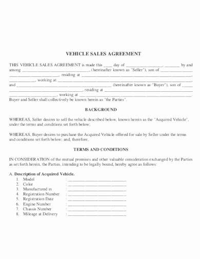 Car Sale Agreement Word Doc Beautiful 6 Car Sale Agreement Templates In Pdf Word