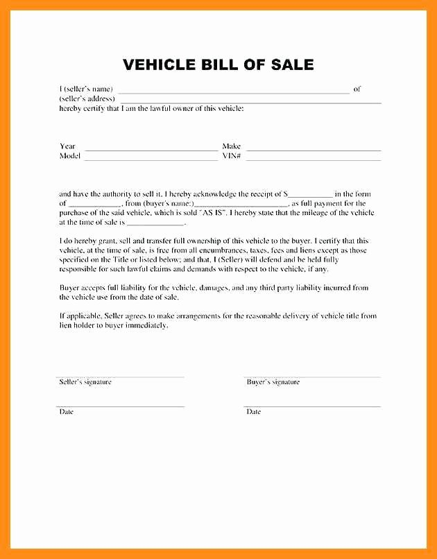Car Sale Agreement Word Doc Best Of 11 12 Bill Of Sale Ontario Template