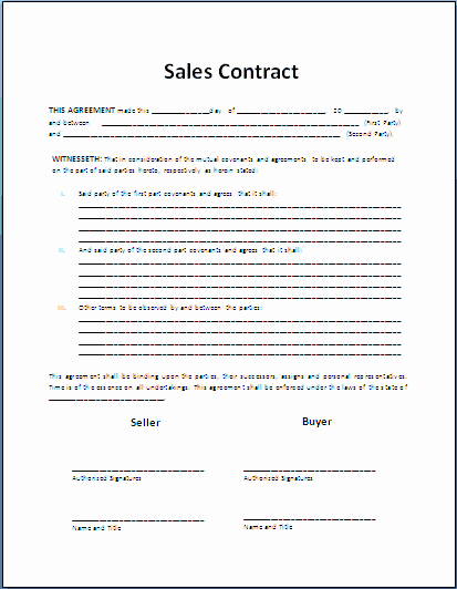 Car Sale Agreement Word Doc Elegant top 5 Resources to Get Free Sales Contract Templates
