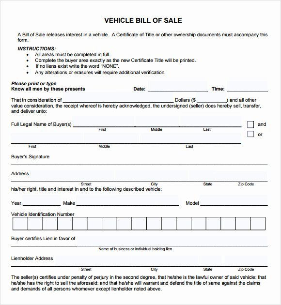 Car Sale Agreement Word Doc Lovely Free 12 Sample Vehicle Bill Of Sales In Pdf