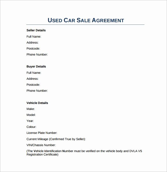 Car Sale Agreement Word Doc New Free 17 Sample Downloadable Sales Agreement Templates In