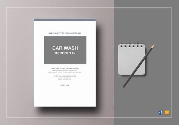Car Wash Business Plan Fresh Free 13 Car Wash Business Plan In Google Docs