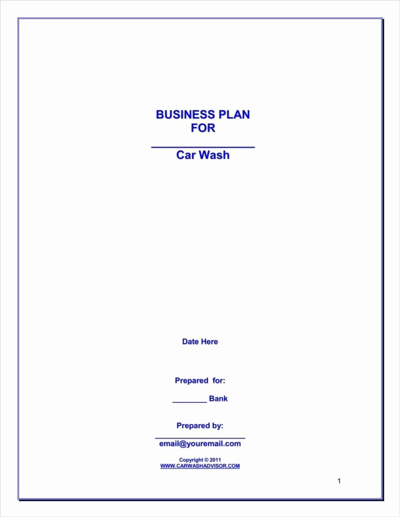Car Wash Business Plan Inspirational How to Make A Car Wash Business Plan