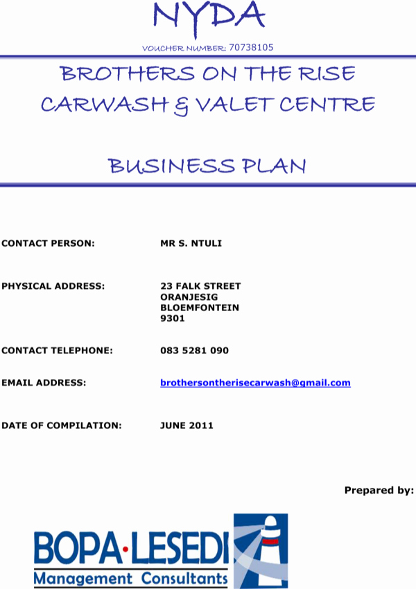 Car Wash Business Plan Luxury Download Car Wash Business Plan Sample1 for Free