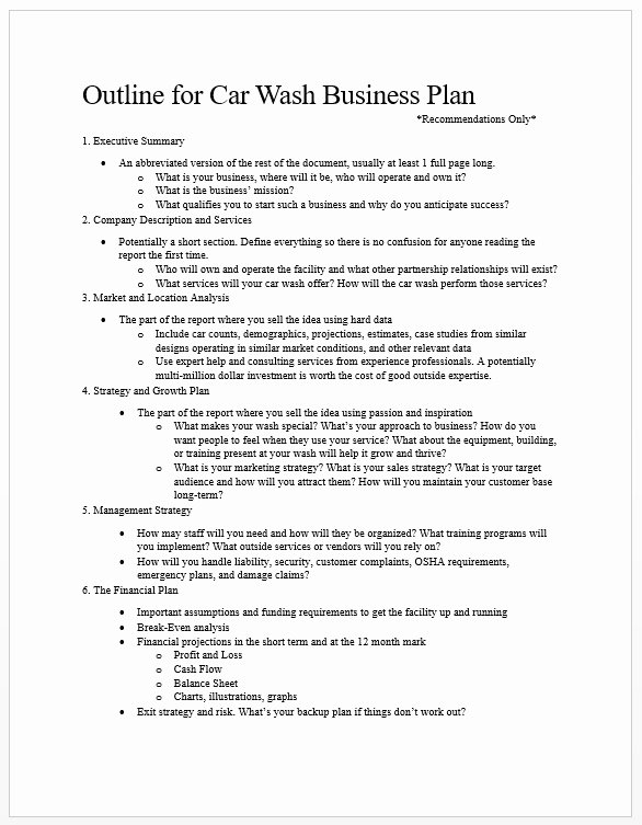 Car Wash Business Plan Unique Car Wash Business Plans – tommy Car Wash Blog