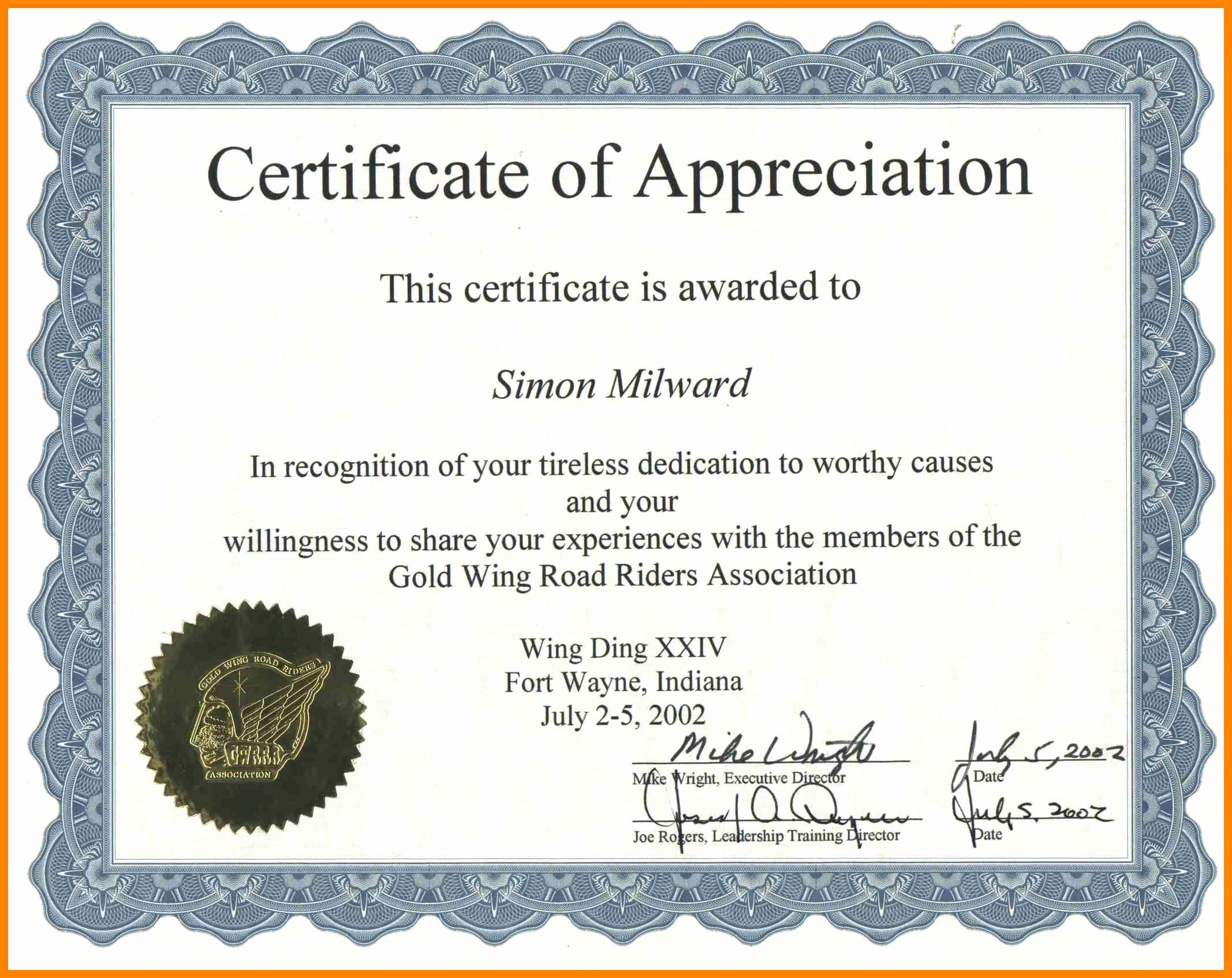 Certificate Of Appreciation Wording Awesome Certificate Achievement Wording – Printable Receipt