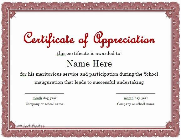 Certificate Of Appreciation Wording Best Of Certificate Of Appreciation 01