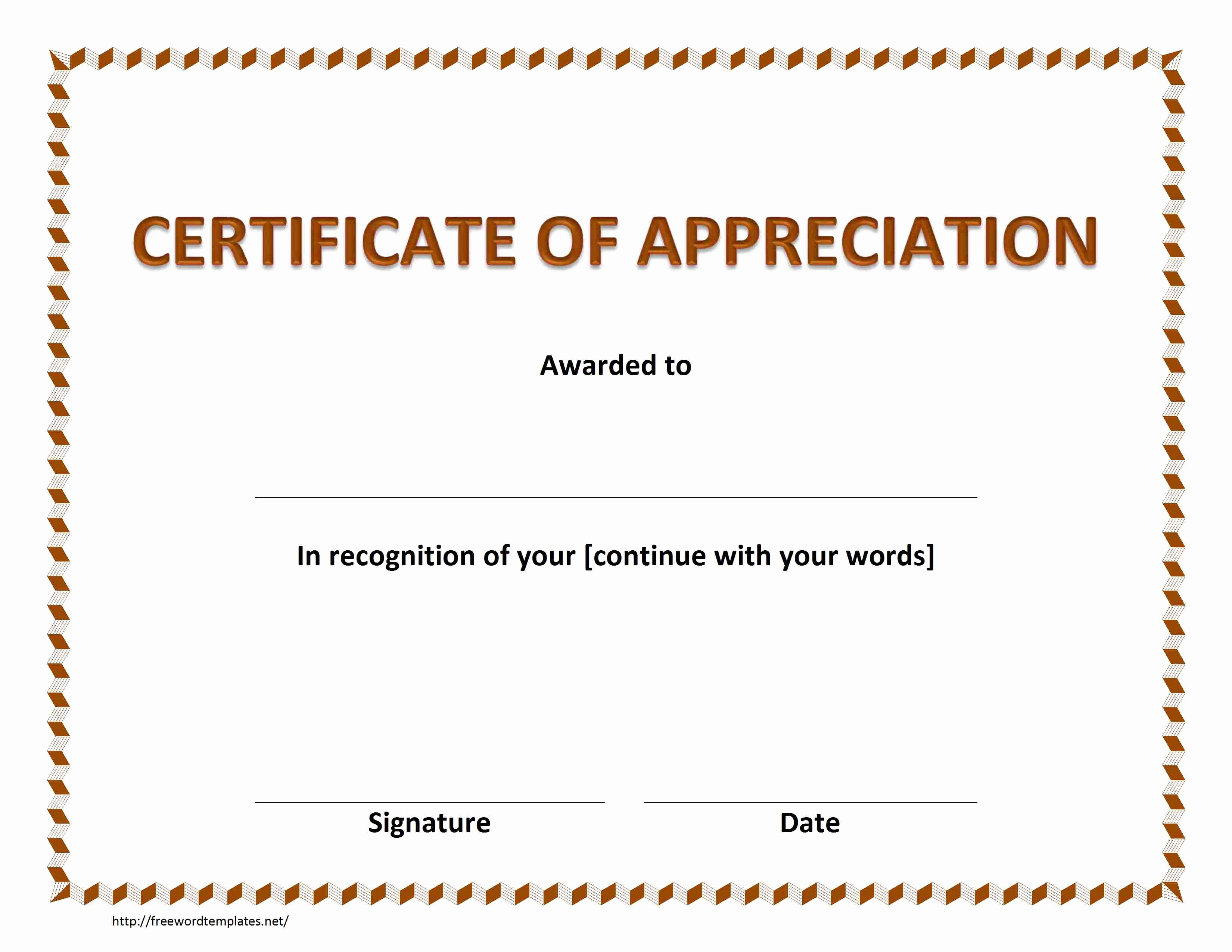 Certificate Of Appreciation Wording Best Of Certificate Of Appreciation