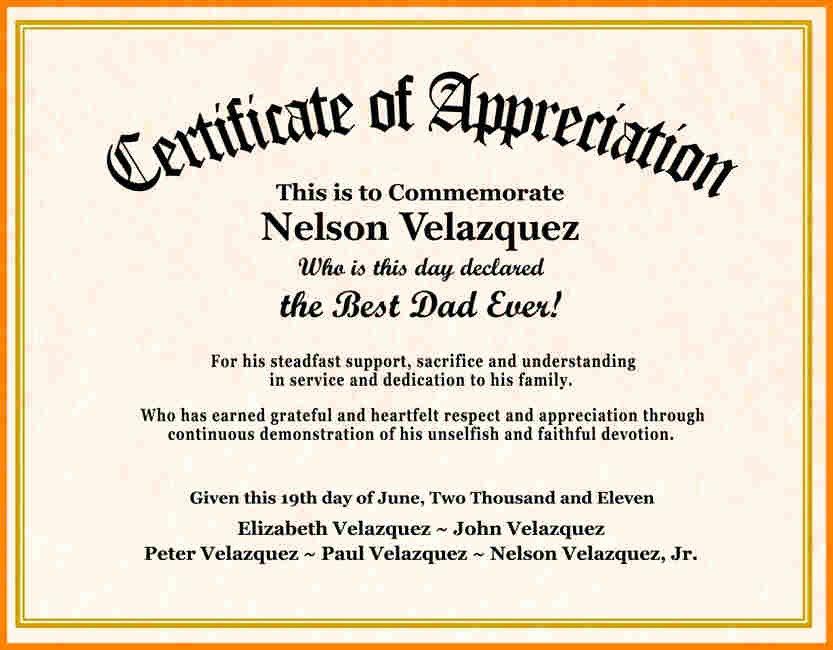 Certificate Of Appreciation Wording Best Of Certificate Wording