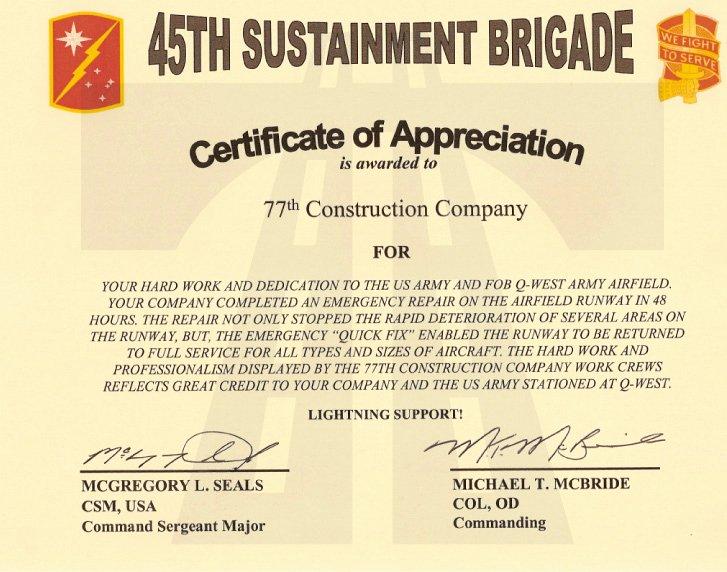 Certificate Of Appreciation Wording Elegant 77 İnşaat