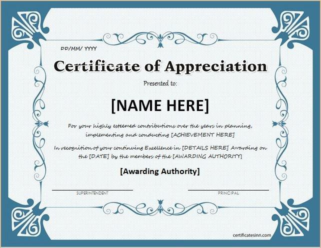 Certificate Of Appreciation Wording Elegant Certificates Of Appreciation Templates for Word