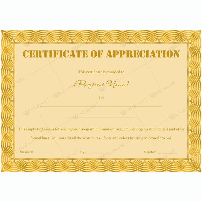 Certificate Of Appreciation Wording Fresh 26 Best Certificate Of Appreciation Templates Images On