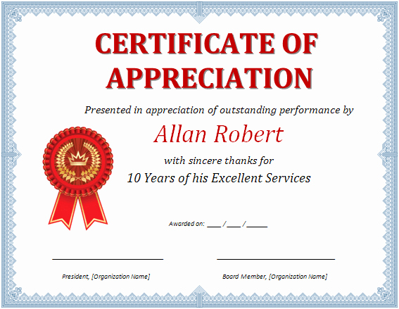 Certificate Of Appreciation Wording Fresh Ms Word Certificate Of Appreciation