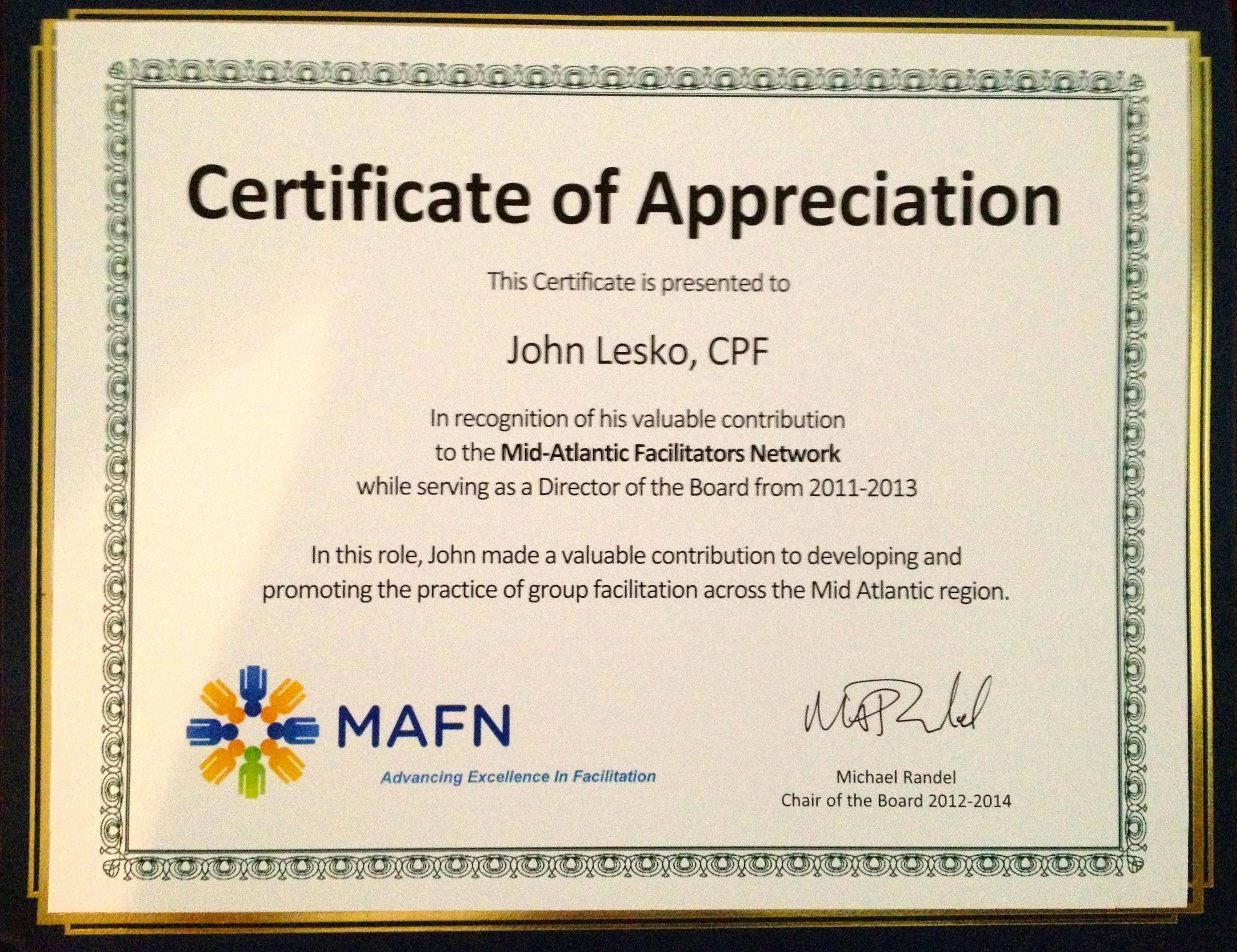 Certificate Of Appreciation Wording Fresh Sample Certificate Appreciation for Facilitator
