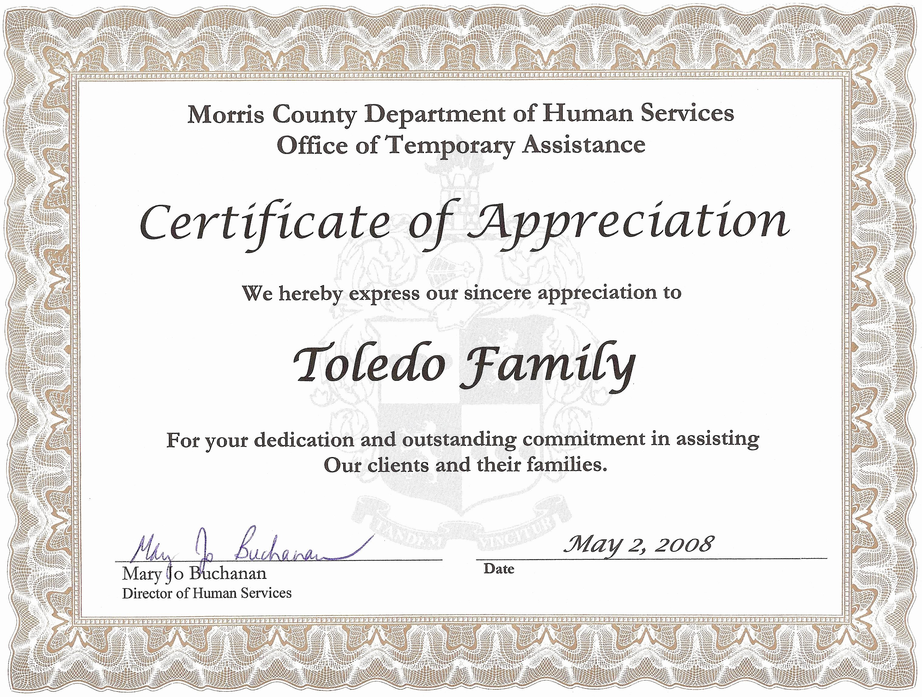 Certificate Of Appreciation Wording Lovely Certificate Appreciation Quotes Quotesgram