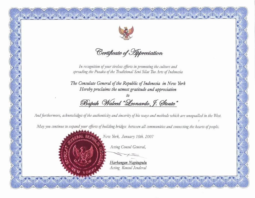 Certificate Of Appreciation Wording Luxury Certificate Appreciation Wording