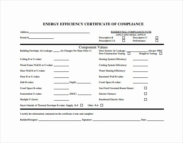Certificate Of Compliance Template Fresh Sample Certificate Of Pliance 25 Documents In Pdf