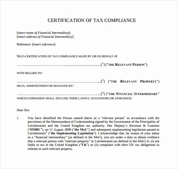 Certificate Of Compliance Template Lovely Sample Certificate Of Pliance 16 Documents In Pdf