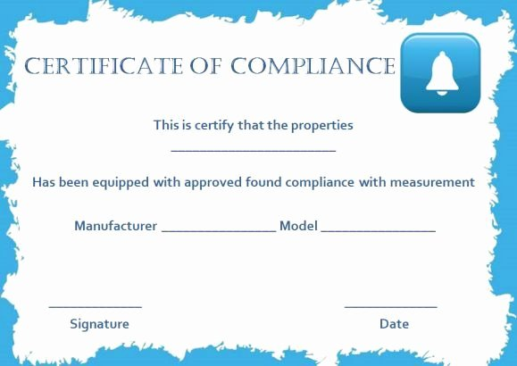 Certificate Of Compliance Template Luxury 16 Best Certificate Of Pliance Images On Pinterest