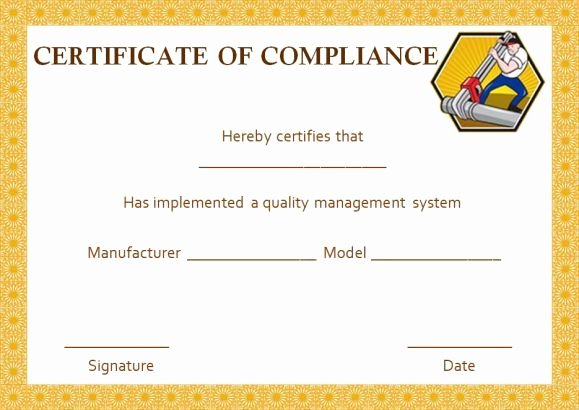 Certificate Of Compliance Template New 16 Best Certificate Of Pliance Images On Pinterest