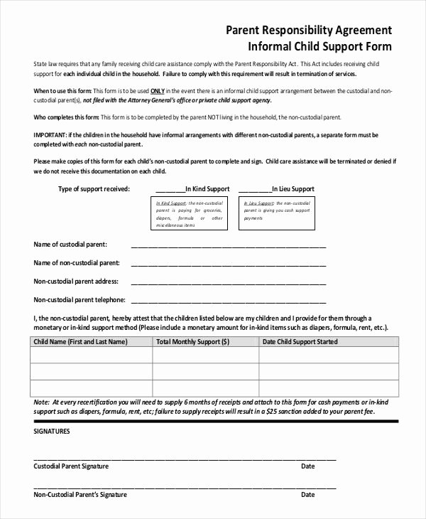 Child Support Agreement Template Awesome 10 Child Support Agreement Templates Pdf Doc